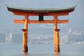 Tori gate at Itsukushima Shrine - PhotoDune Item for Sale