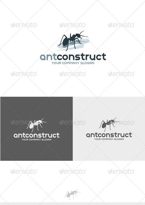 Ant Construct Logo - Animals Logo Templates