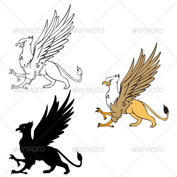 Gryphon Illustrattion - Monsters Characters