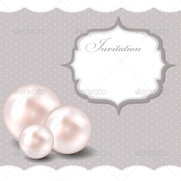 Beauty Pearl Background Vector Illustration - Decorative Symbols Decorative