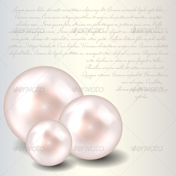 Beauty Pearl Background Vector Illustration - Organic Objects Objects