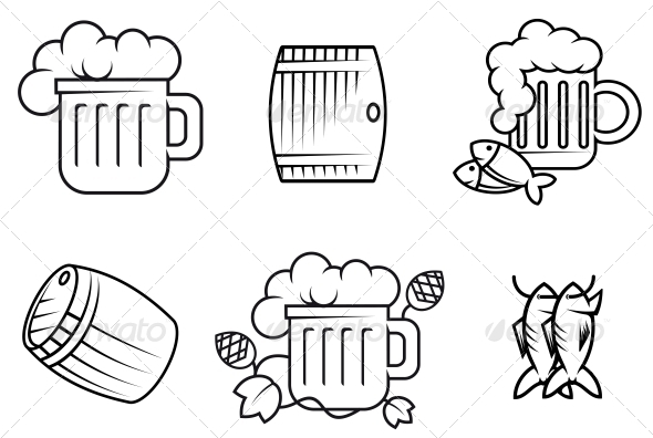 Beer and Alcohol Symbols - Food Objects
