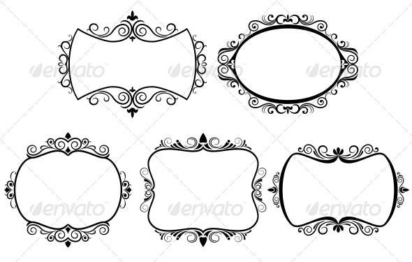 Set of Vintage Frames - Borders Decorative