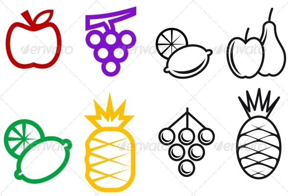 Fruit Symbols - Food Objects