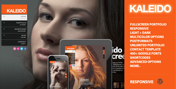 Kaleido Responsive Fullscreen Studio for WordPress - Portfolio Creative