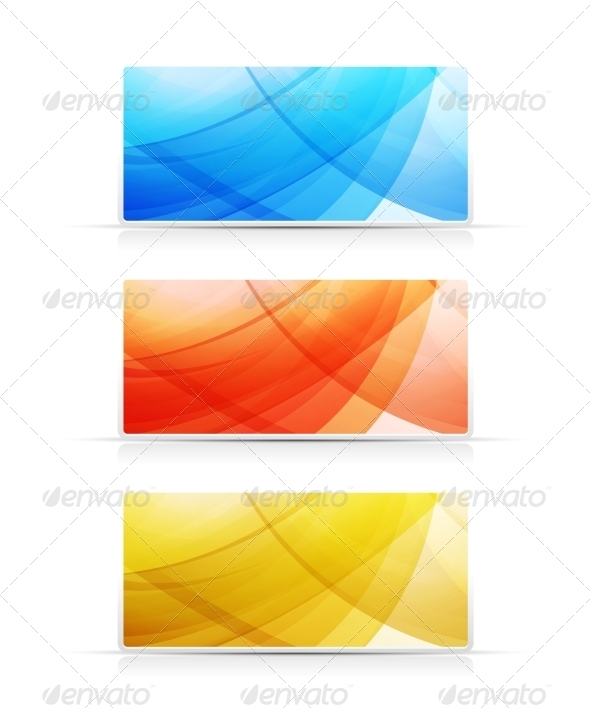 Bright Color Banners Collection - Backgrounds Decorative