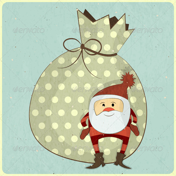 Christmas Cards with Cartoon Santa - Christmas Seasons/Holidays