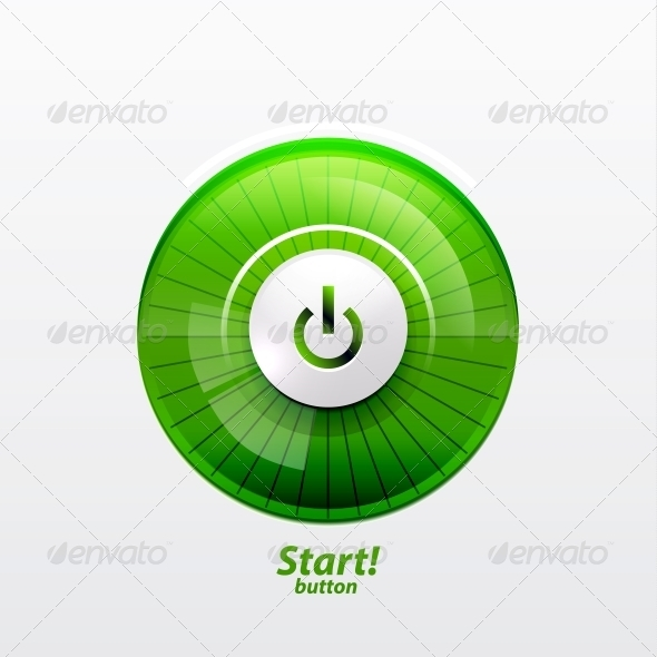 Power Button with Empty Glass Screen - Web Elements Vectors