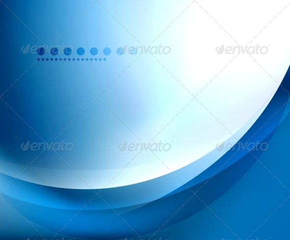 Blue Smooth Wave Template - Backgrounds Decorative