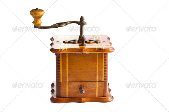 antique coffee mill - Stock Photo - Images