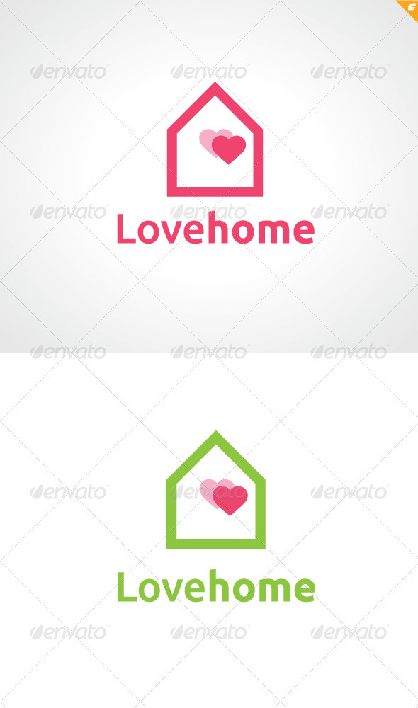 Love Home Logo - Buildings Logo Templates
