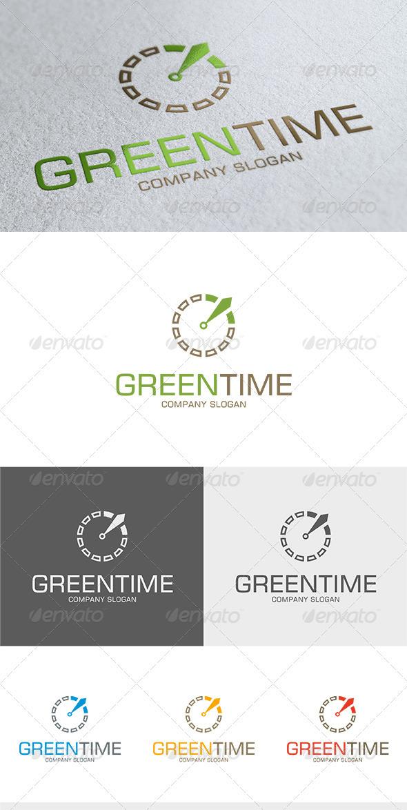 Green Time Logo - Symbols Logo Templates