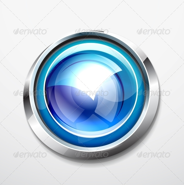 Glossy Button - Web Elements Vectors