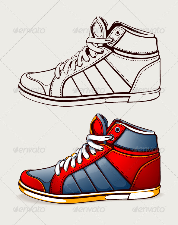 Vector Shoes Sneakers - Man-made Objects Objects