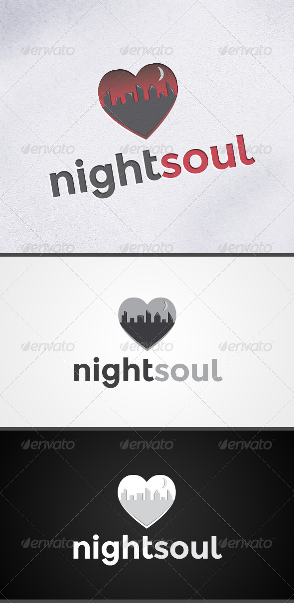 Nightsoul Heart Logo - Symbols Logo Templates