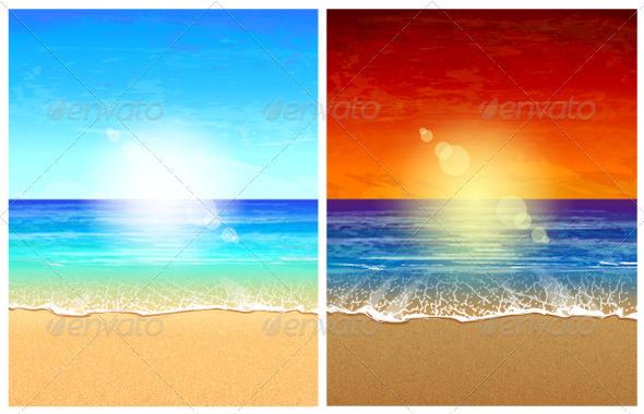 Seascape Backgrounds - Nature Conceptual