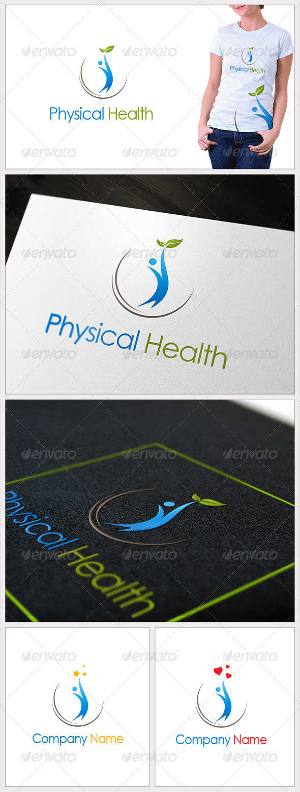 Physical Health - Humans Logo Templates