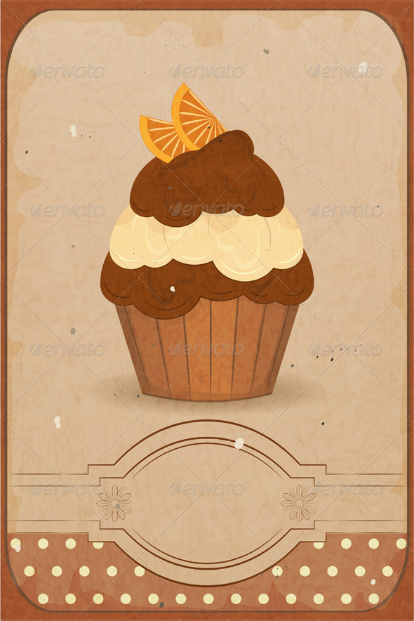 Muffin with Orange - Food Objects