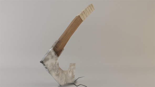 Low Poly Warrior Axe - 3DOcean Item for Sale