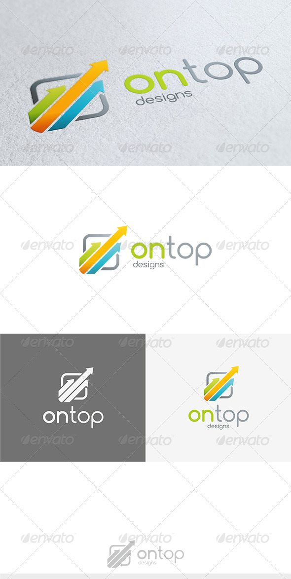 On Top Logo - Vector Abstract