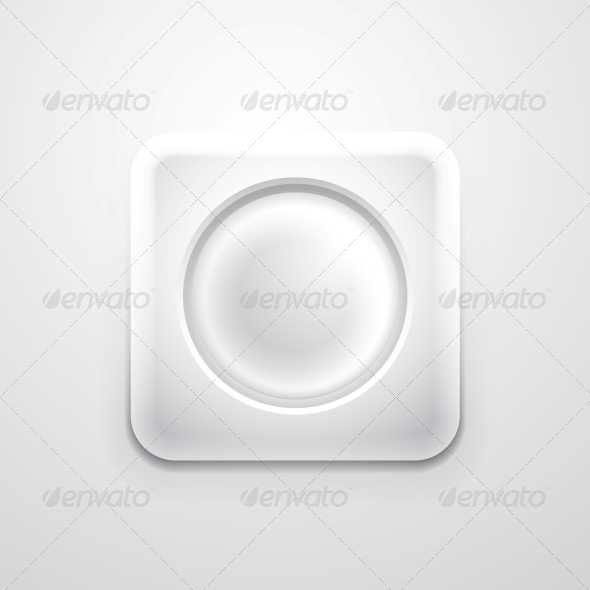 White Mobile App Icon with Empty Circle - Web Elements Vectors