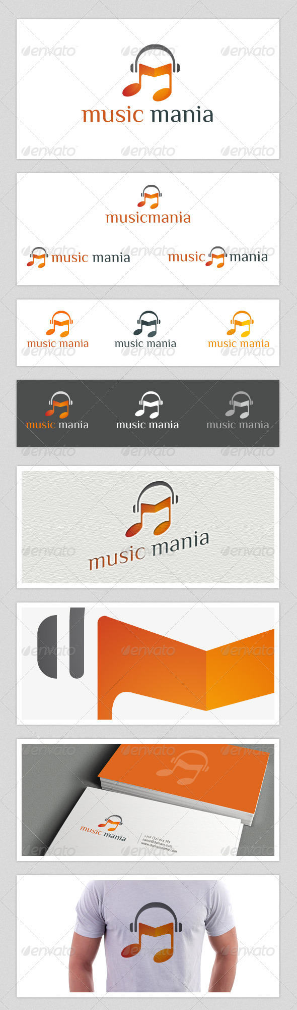 Music Mania - Objects Logo Templates