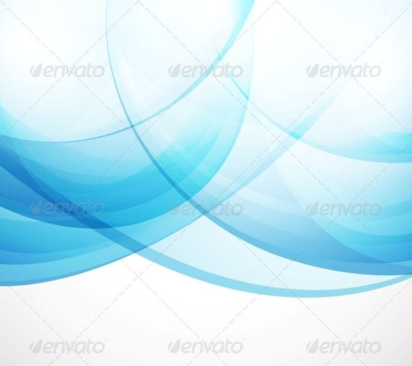 Vector Abstract Background - Blue Waves - Backgrounds Decorative
