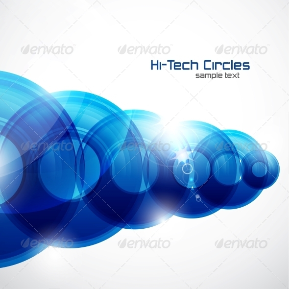Shiny Circles Abstract Futuristic Background - Backgrounds Decorative