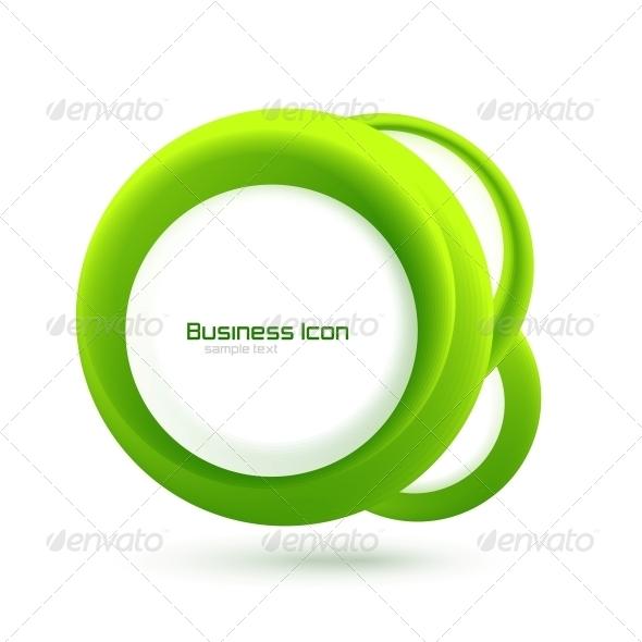 Green Eco Business Emblem - Web Elements Vectors