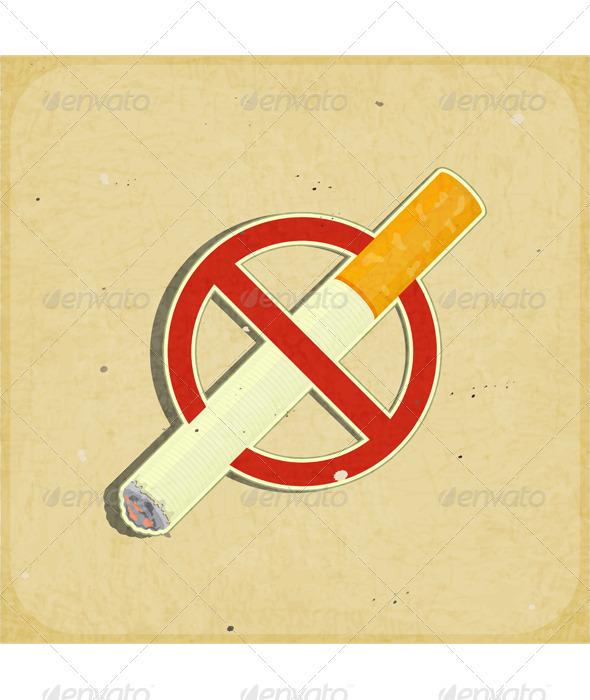 No Smoking Sign - Conceptual Vectors