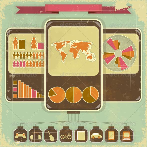 Retro Infographic Design - Infographics