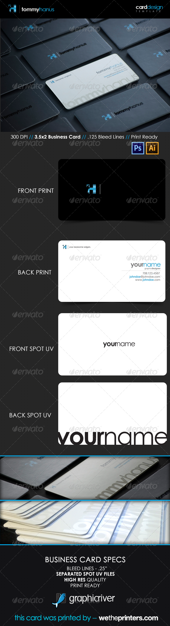 Sleek Modern Business Card - Corporate Business Cards