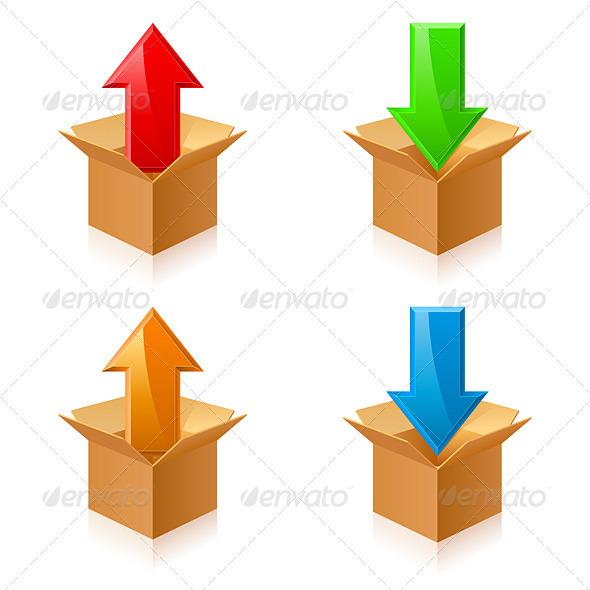Color Boxes and Arrows - Miscellaneous Vectors