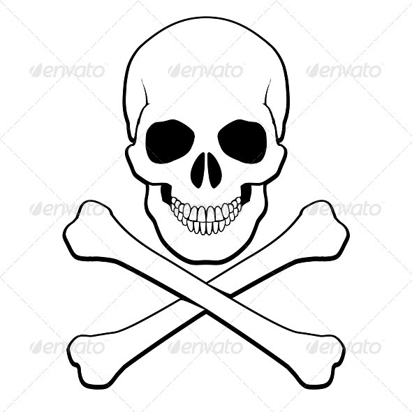 Skull and Crossbones - Halloween Seasons/Holidays