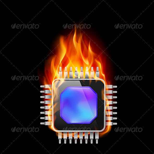 Burning Processor - Technology Conceptual