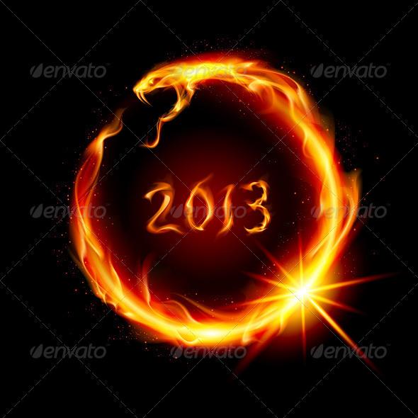 Fire Snake - New Year Seasons/Holidays