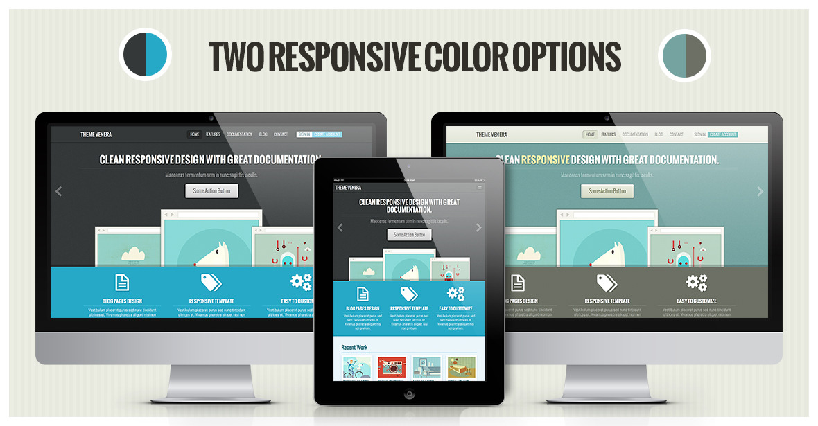 Venera - Responsive HTML Template - Retro colors by Osetin ...