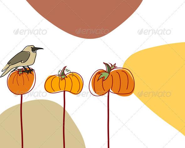 Autumn Greeting Doodle Card - Seasons Nature