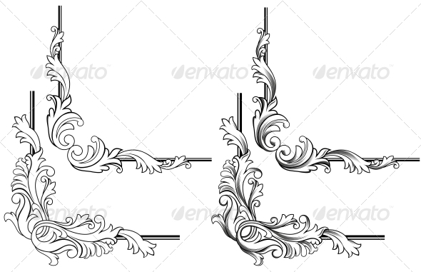 Swirl Elements - Decorative Symbols Decorative