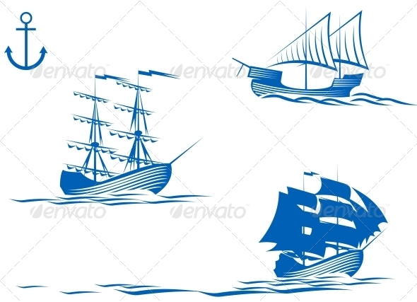 Sail Ships - Travel Conceptual
