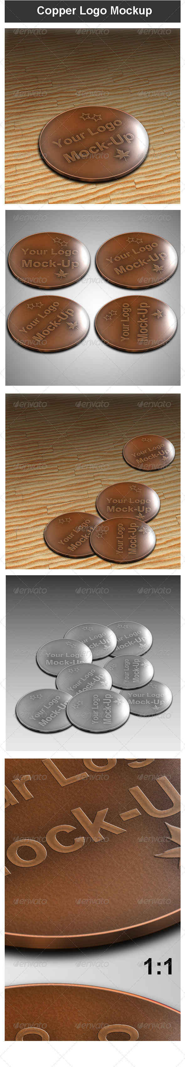 Copper Logo Mock-up - Logo Product Mock-Ups