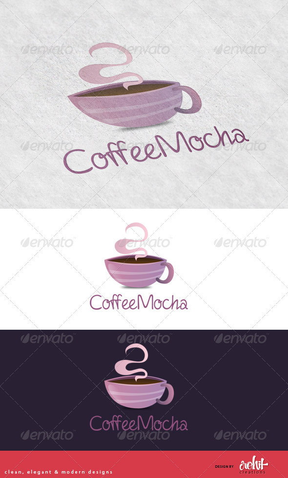 CoffeeMocha - Coffee Shop Logo Template - Food Logo Templates