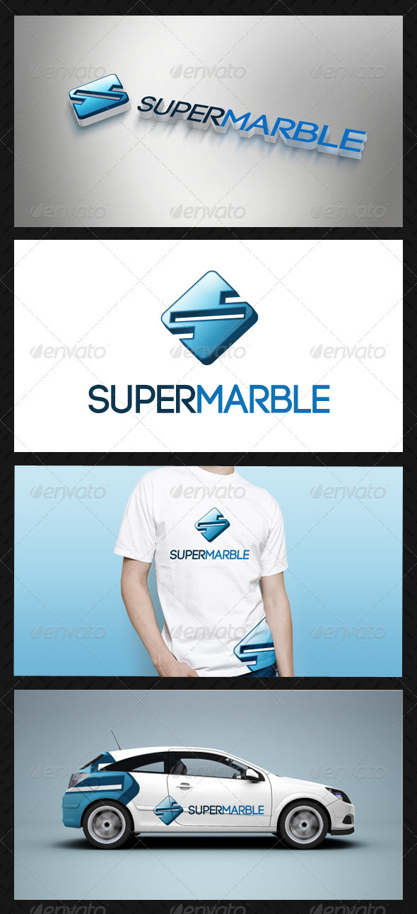 Super Marble Logo Template - Letters Logo Templates