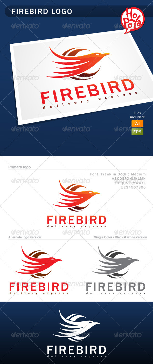 Firebird Logo - Animals Logo Templates