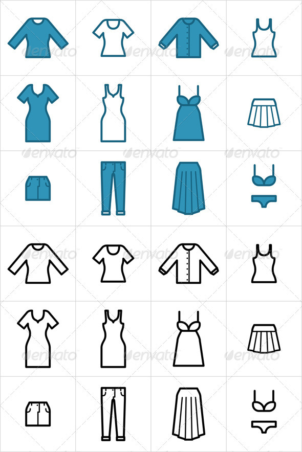 Clothing Icons Set 2 - Man-made objects Objects