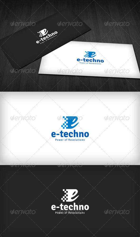 E-Technology Logo - Letters Logo Templates