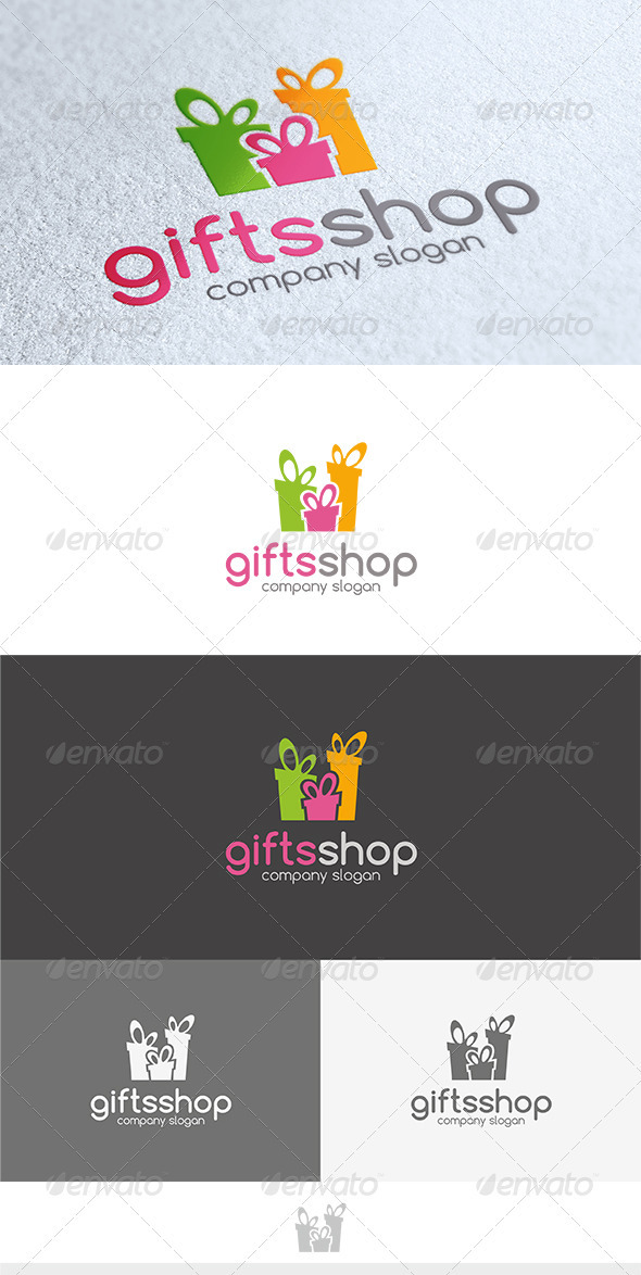 Gifts Shop Logo - Objects Logo Templates