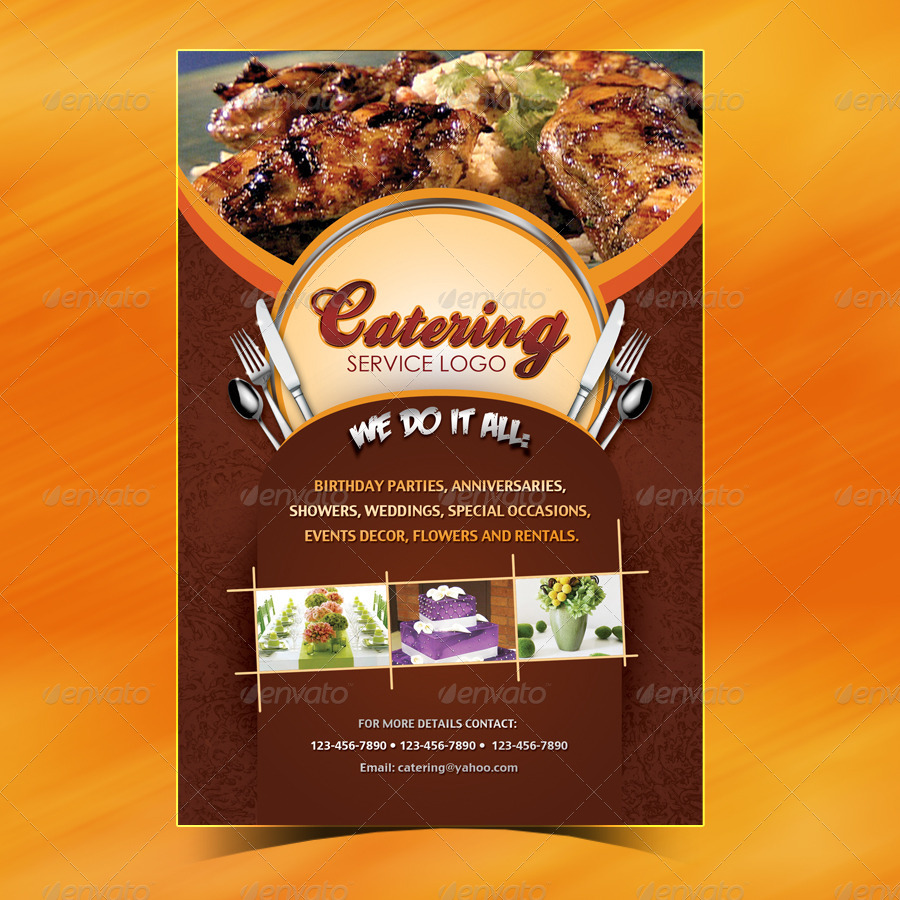 Catering Menu Template (Flyer) by owdesigns | GraphicRiver