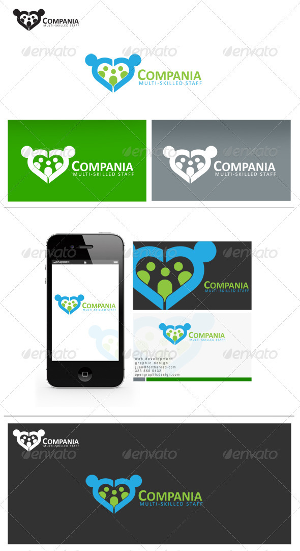 Compania - Humans Logo Templates