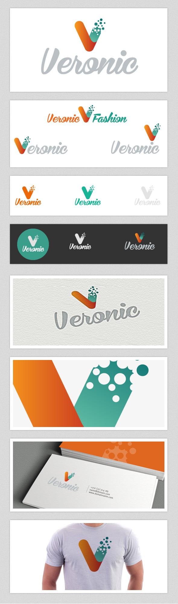 Veronic Fashion V Letter Logo - Letters Logo Templates